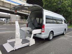 ハイエースコミューター4WDワイド福祉車両ウェルキャブDタイプ車イス4台 事業用可
