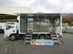 エルフトラック 移動販売車 買物弱者支援車 4温度帯販売設備 中音冷凍機(いすゞ)