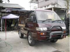 デリカスターワゴン 移動販売車 サンルーフ アルミホイール スライドドア(三菱)