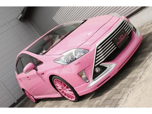 AWESOMEピンクラグジュアリー バンパーエアロS010 ピンクアルミ キャリパーカバー シートカバー フロアマット