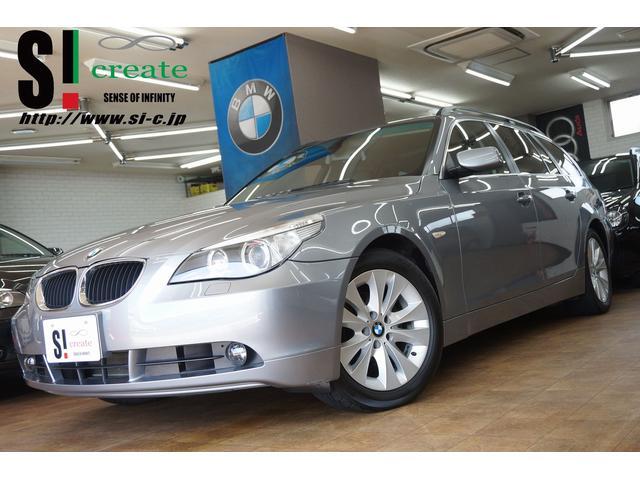 BMW 525iツーリングハイライン 純正ナビ パノラマSR 黒革