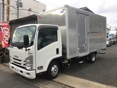 エルフトラック2tワイドロングアルミバン サイドドア付 日本フルハーフ製