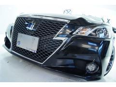 クラウンハイブリッドアスリートS黒革 全国1年保証付 新品19アルミ 新品車高調