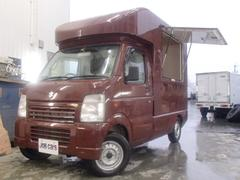 キャリイトラック 移動販売車 サイド跳上げドア 2層シンク 調理テーブル収納棚(スズキ)