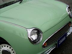 フィガロ同色全塗装済 オープントップ張替 内装リペア済 ワンオーナー
