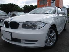 BMW120i カブリオレ 革シート HDDナビ シートヒーター