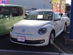 VW ザ・ビートル・カブリオレワンオーナー オープン レザーシート メモリーナビ キーレス