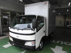 ダイナトラック2tアルミバン 白黒バックカメラ ラッシング1段 全塗装済