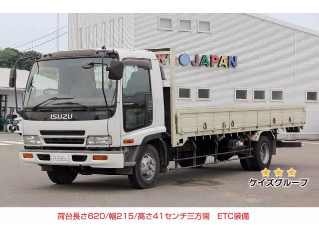 いすゞ フォワード 平ボディ 三方開 ETC 最大積載4000KG...