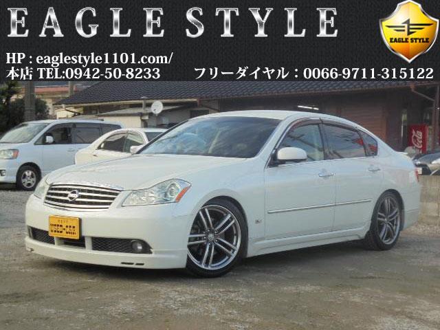 日産 フーガ 350GT・社外エアロ・車高調・純正AW・黒半革・保...