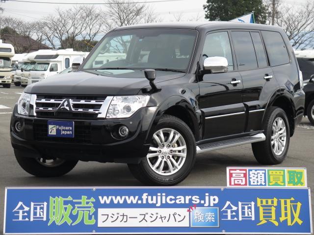 三菱 パジェロ スーパーエクシード 黒革 ロックフォード SDナビ...