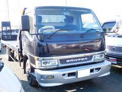 キャンターワイド超ロング全低床ターボ ディーゼル HDDナビ 積載車