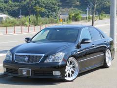 クラウンアスリート サンル−フ黒革マルチ20AW車高調 R修復歴軽度