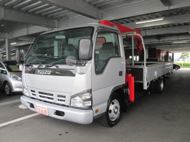いすゞ エルフトラック 2t 5段クレーン ETC (車検整備付)