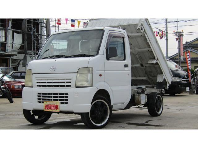 マツダ スクラムトラック ダンプ エアコン付き 4WD 社外アルミ...