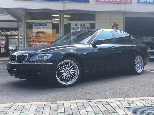 BMW 7シリーズ 750i 後期型 黒革本革パワーシート サンル...