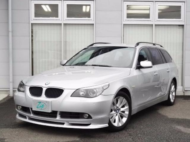 BMW 5シリーズ 525iツーリング 本革シート 純正ナビ (検...