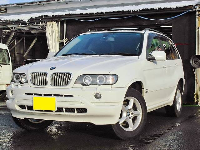 BMW X5 3.0i 4WD BKレザー SR 社外HDDナビ ...