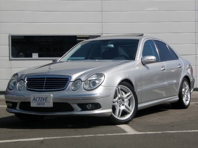 mercedes benz e class e55 amg 2003 silver 40 000 km details japanese used cars goo net. Black Bedroom Furniture Sets. Home Design Ideas