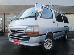 ハイエースバンロングスーパーGL−E 4WD ルーフキャリア ナビ ETC