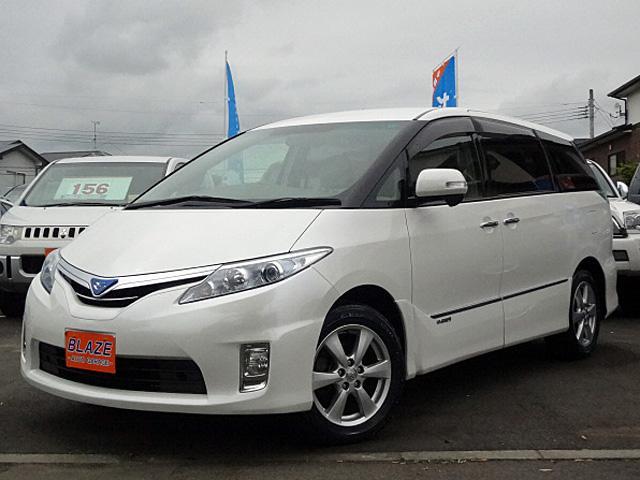 トヨタ エスティマハイブリッド X 4WD 7人乗 両側パワスラ SDナビ地デジ クルコン
