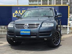 VW トゥアレグV6 社外20インチアルミ ブラックレザーシート キーレス