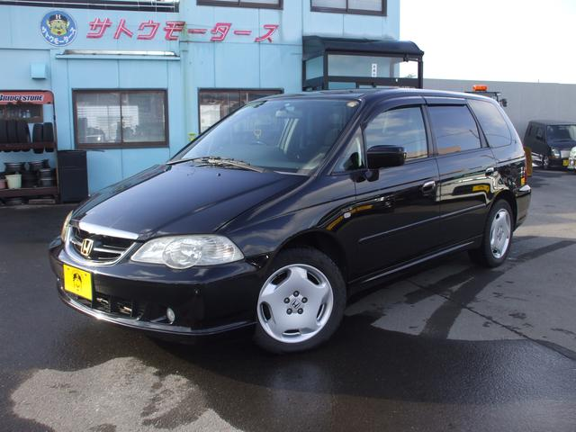honda odyssey absolute 2002 black 105 000 km details japanese used cars goo net exchange. Black Bedroom Furniture Sets. Home Design Ideas