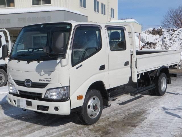 日野 デュトロ ロング標準Wキャブ全低床 4WD 積載2000kg...