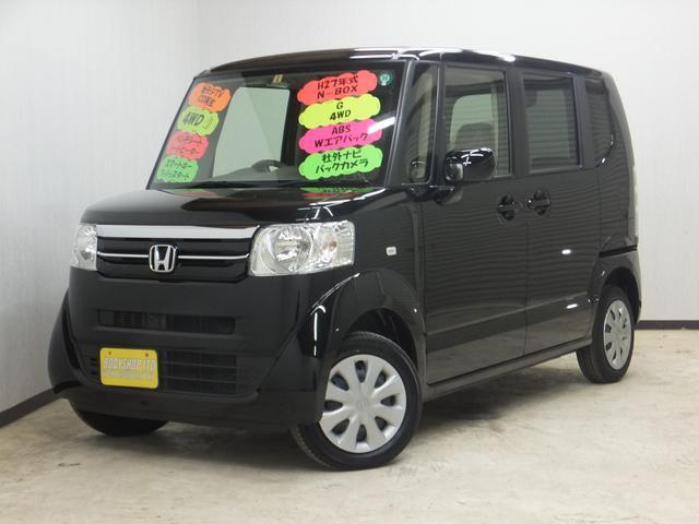 ホンダ N BOX G 4WD 社外SDナビ ワンセグTV スマー...