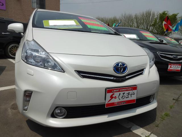 トヨタ プリウスα S ダウンサス新品 社外18AW タイヤ新品 ...