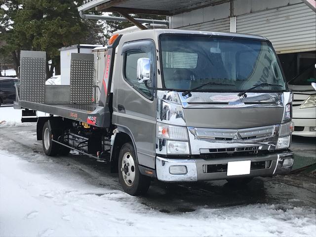 三菱ふそう キャンター 積載車 社外SDナビ フルセグTV バック...