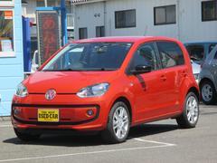VW アップ!オレンジ アップ! ワンオーナー車 純正16インチアルミ