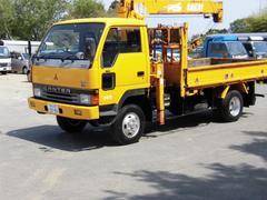 キャンターSAKAI製3段クレーン付 リアアウトリガー 4WD