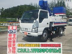 エルフトラック高所作業車 電工仕様10.6M アイチSH106 バケット