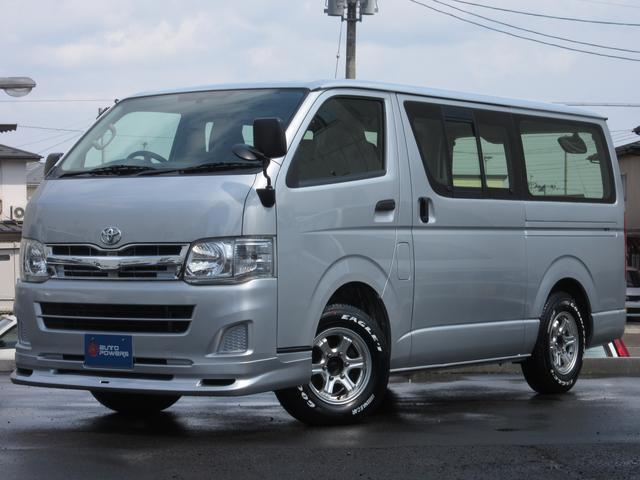 トヨタ ロングDX4WD9人乗リアヒーターSDナビETC付関東仕入