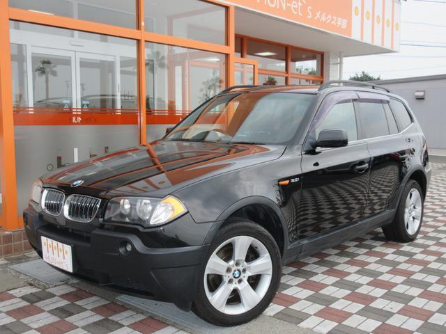 BMW X3 3.0i  社外HDDナビ 4WD (検30.8)