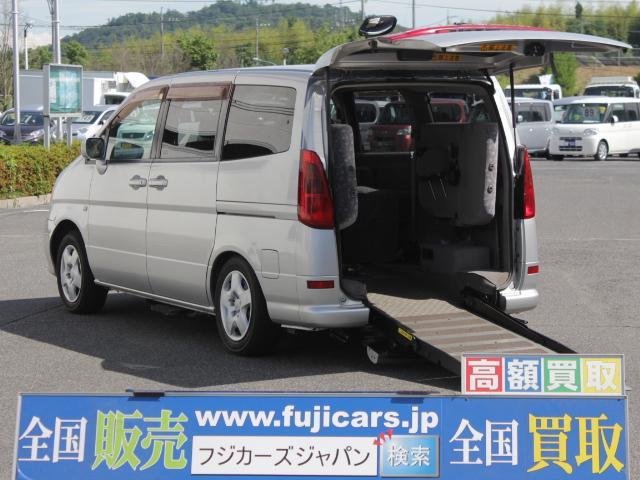 日産 福祉車両 電動スロープ 車いす1基 固定装置 ニールダウン