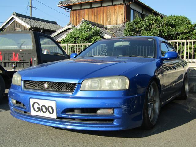日産 GT 5速MT 外品18インチアルミ HKS車高調