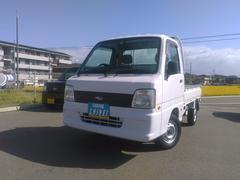 サンバートラックTB4WDエアコン・パワステ・スバル製サンバー・7000KM