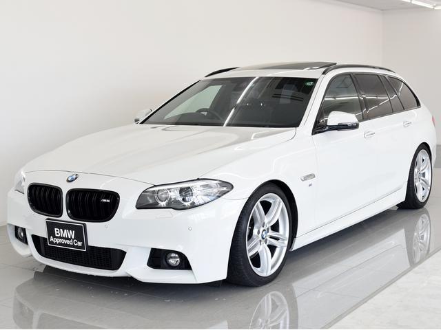 BMW 5シリーズ 528iツーリングMスポーツ SR 黒革 マル...