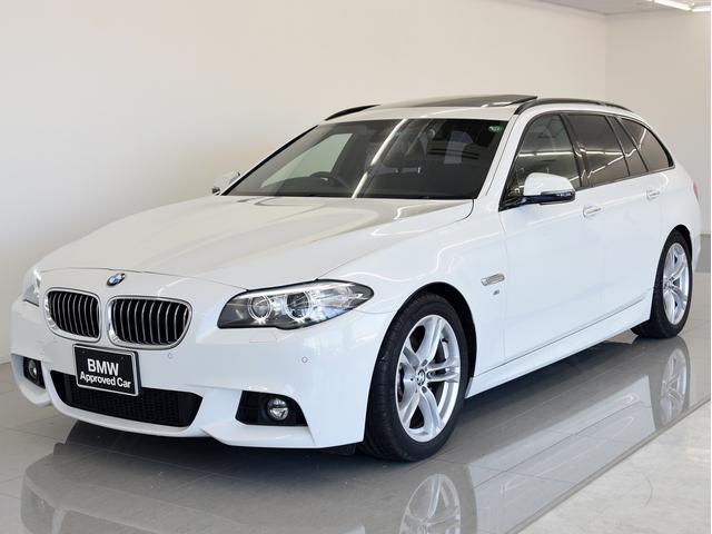 BMW 5シリーズ 523dツーリング Mスポ 黒革 SR 電動シ...
