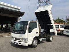エルフトラック2t強化ダンプ 低床 新品バッテリー ETC付き