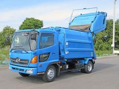 ヒノレンジャー塵芥車 2t 205ps 新明和製 容量8.6立米 プレス式