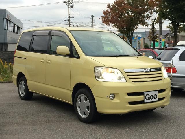 無料電話はコチラ→ 0066−9703−703002希少の黄色ノア!4WDで冬もラクラク♪装備充実、フロントリアパークソナー