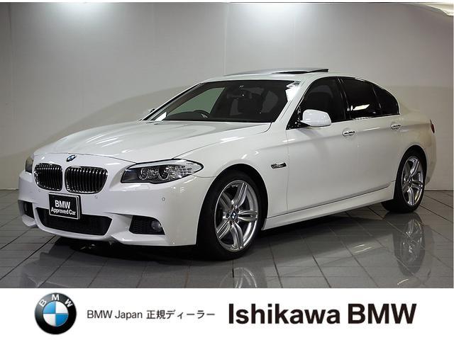 BMW 5シリーズ 528i Mスポーツ ガラスサンルーフ 黒レザ...