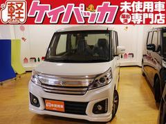 新潟県の中古車ならスペーシアカスタム XS 届出済未使用車 デュアルカメラブレーキサポート AW