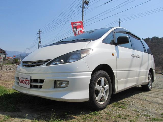 トヨタ アエラス 4WD 3列7人乗 純正ナビ Wサンルーフ