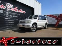 新潟の中古車 三菱 パジェロイオ 車両価格 15万円 リ済別 平成12年 6.5万K パールホワイト