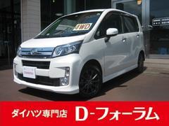 新潟県の中古車ならムーヴ カスタム X SA4WD ナビ TV アルミ スマアシ