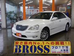 新潟県の中古車ならクラウンマジェスタ Cタイプ ワンオーナー ブラックレザー 関東仕入 保証付